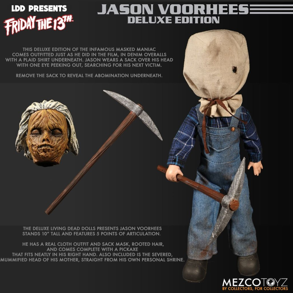Living Dead Dolls Friday The 13th Jason Voorhees Doll: Nerd News: Mezco Burst-a-Box & Living Dead Dolls Does